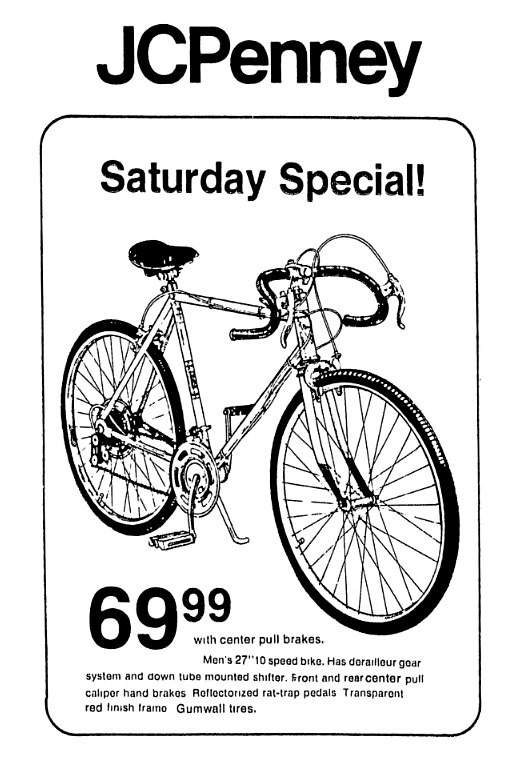 Jcpenney 10 Speed Bike June 1974 Speed Bike Bike Florida State University