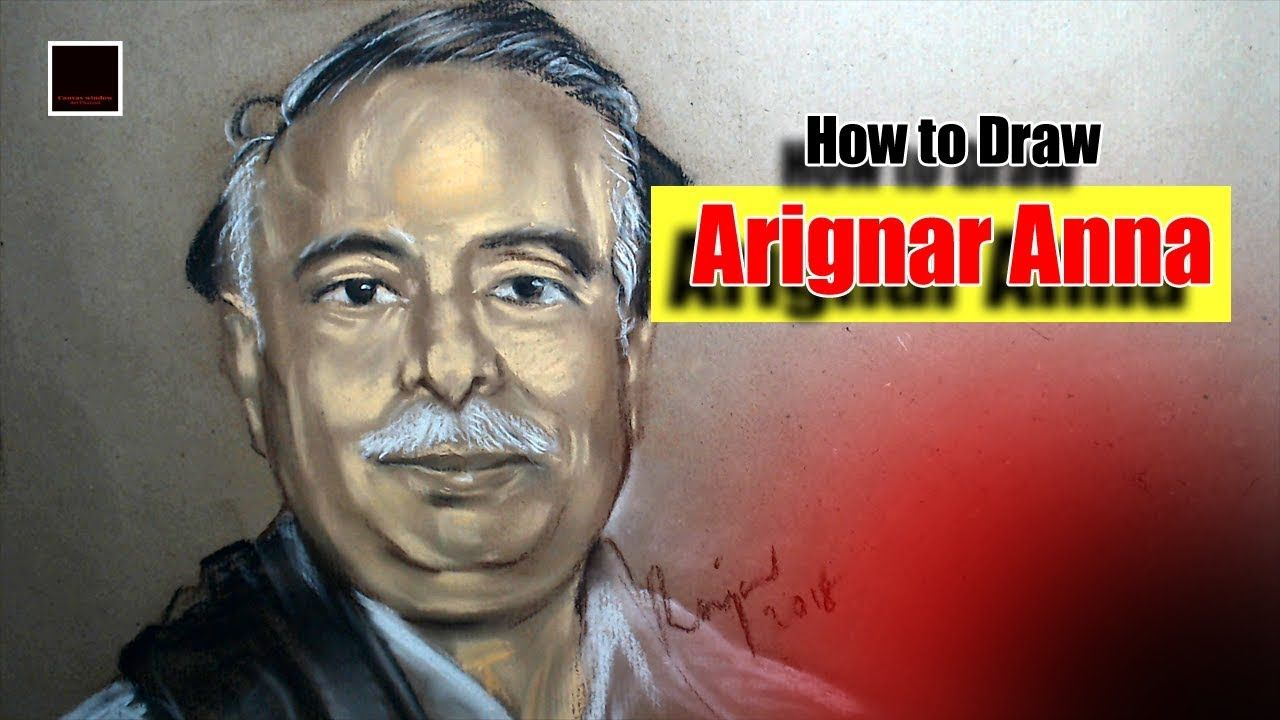 Arignar Anna How To Draw Learn Portrait Drawing Drawings Draw Portrait Drawing