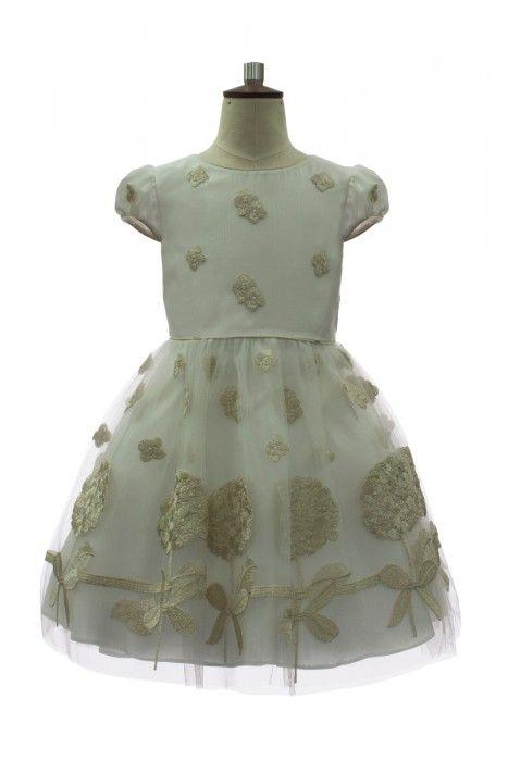 7048117782a Ivory and Gold Bridesmaid Dress-David Charles