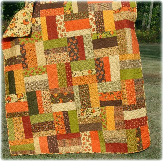 Autumn Quilt Posh Pumpkin By Carlenewestberg On Etsy 230 00 Fall Quilts Quilts Throw Quilt
