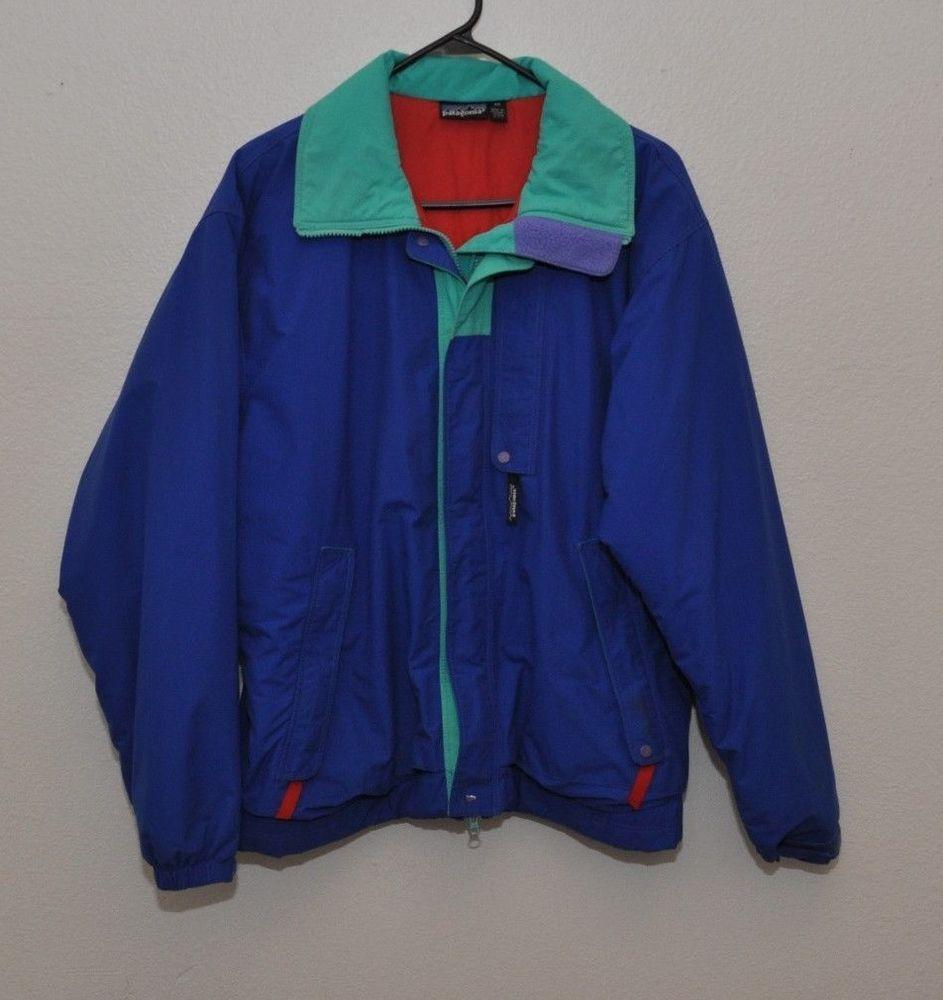 33d54605e Vtg 80s 90s Patagonia Blue Nylon Jacket Mens M Medium Coat #Patagonia # BasicJacket