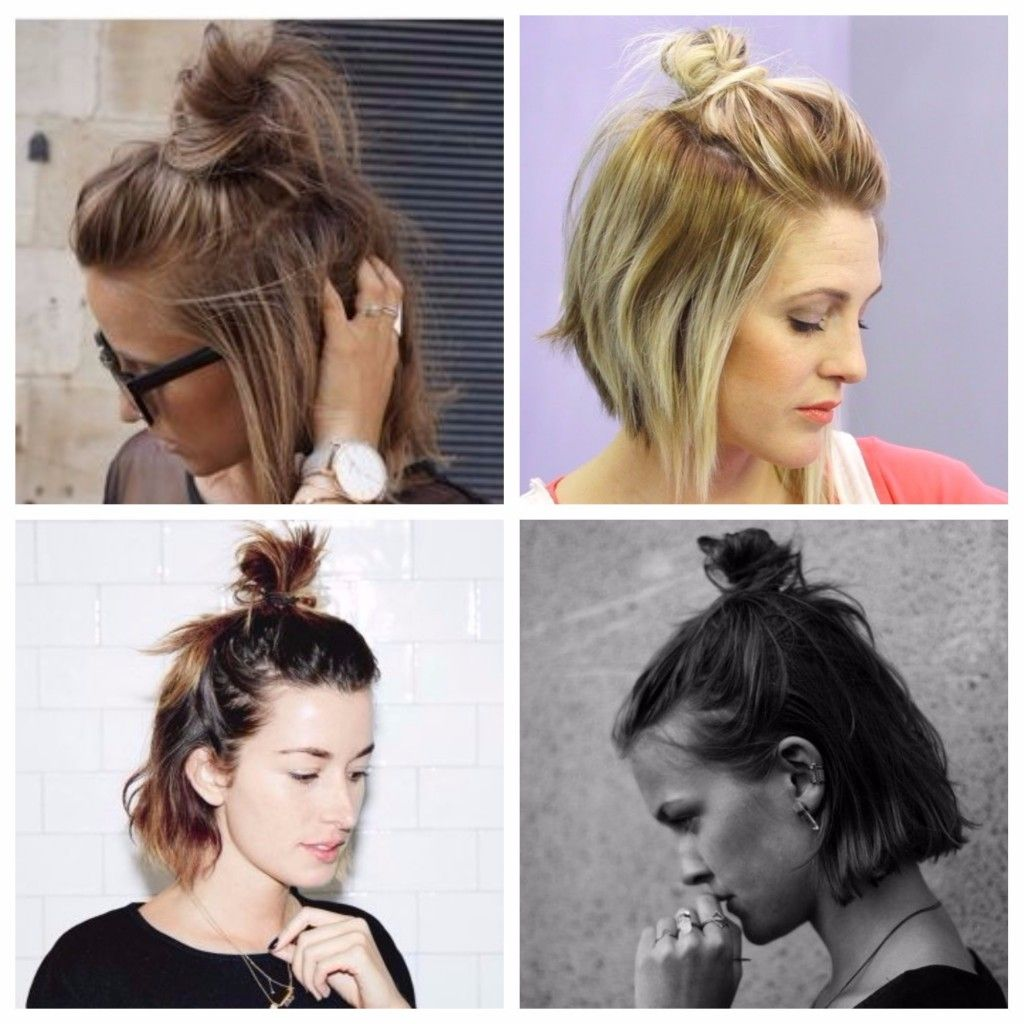 Short Hair Top Knot Short Hair Top Knot Hair Styles Short Hair Styles