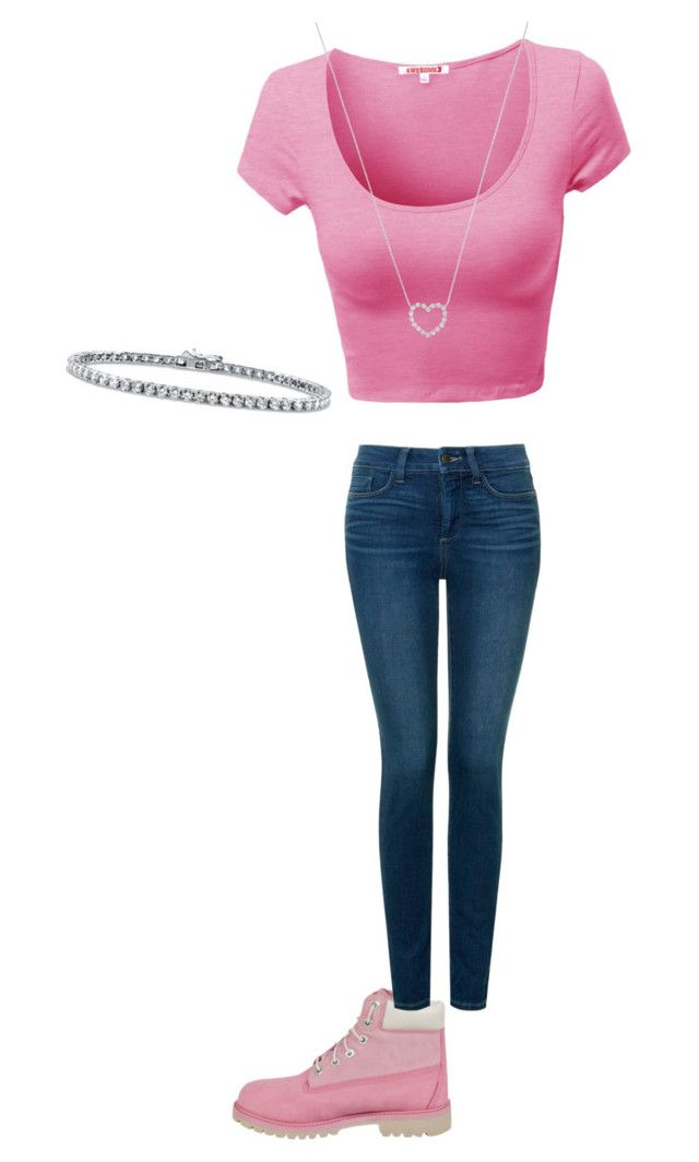 """Untitled #61"" by ssdeamues on Polyvore featuring Timberland, Tiffany & Co., NYDJ and BERRICLE"