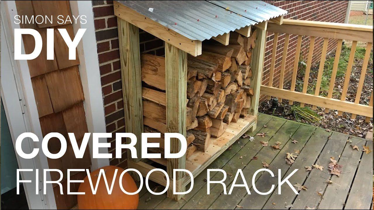 Diy Covered Firewood Rack Firewood Rack Outdoor Firewood Rack Firewood Storage Outdoor