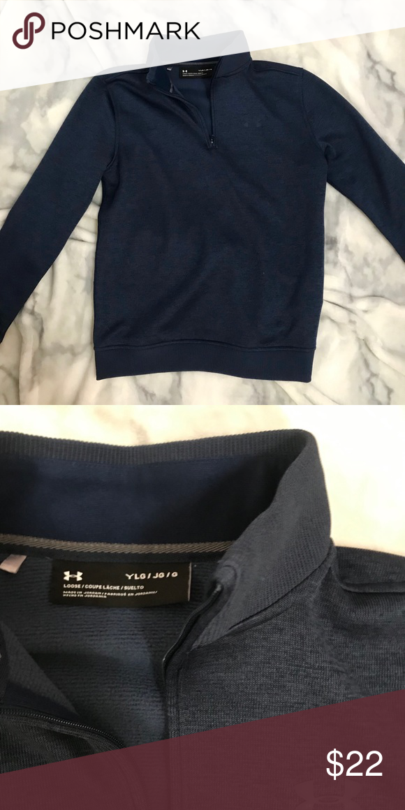 Under Armour Youth Large 1 4 Zip Navy blue Youth L Under Amour 1 4 zip  super soft and warm fits me perfect (usually womens small) PRICE NEGOTIABLE   ) Under ... a9eff77b21