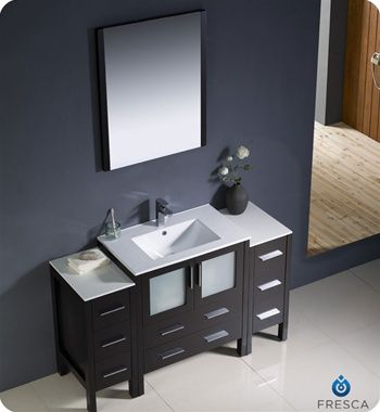 45+ Espresso bathroom vanity cabinet diy