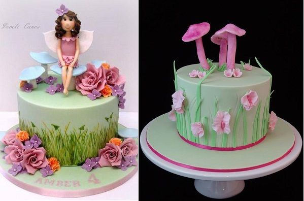 Flower Fairy Cakes (With images) | Fairy garden cake ...