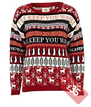 RED CHRISTMAS FAIRISLE JUMPER