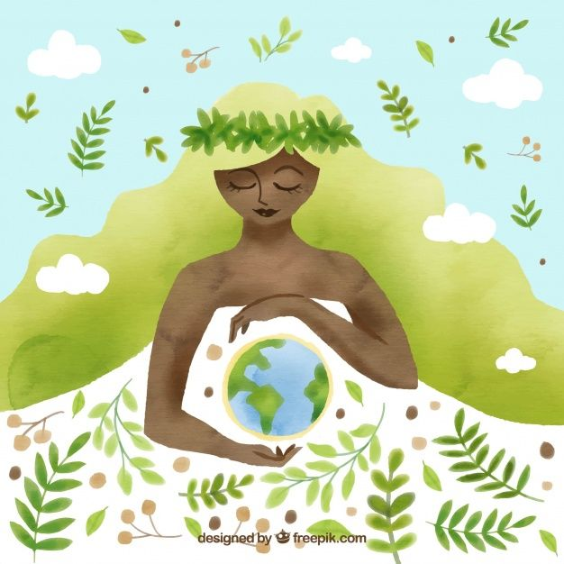 Nice background for the mother earth day Free Vector