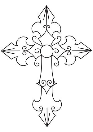 Lucky 7 Cross design (UTH6285) from UrbanThreads.com