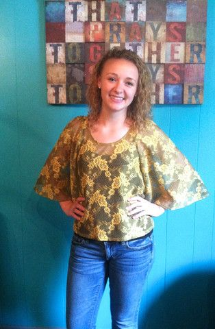 Mustard Lace Top | Lynn's Boutique