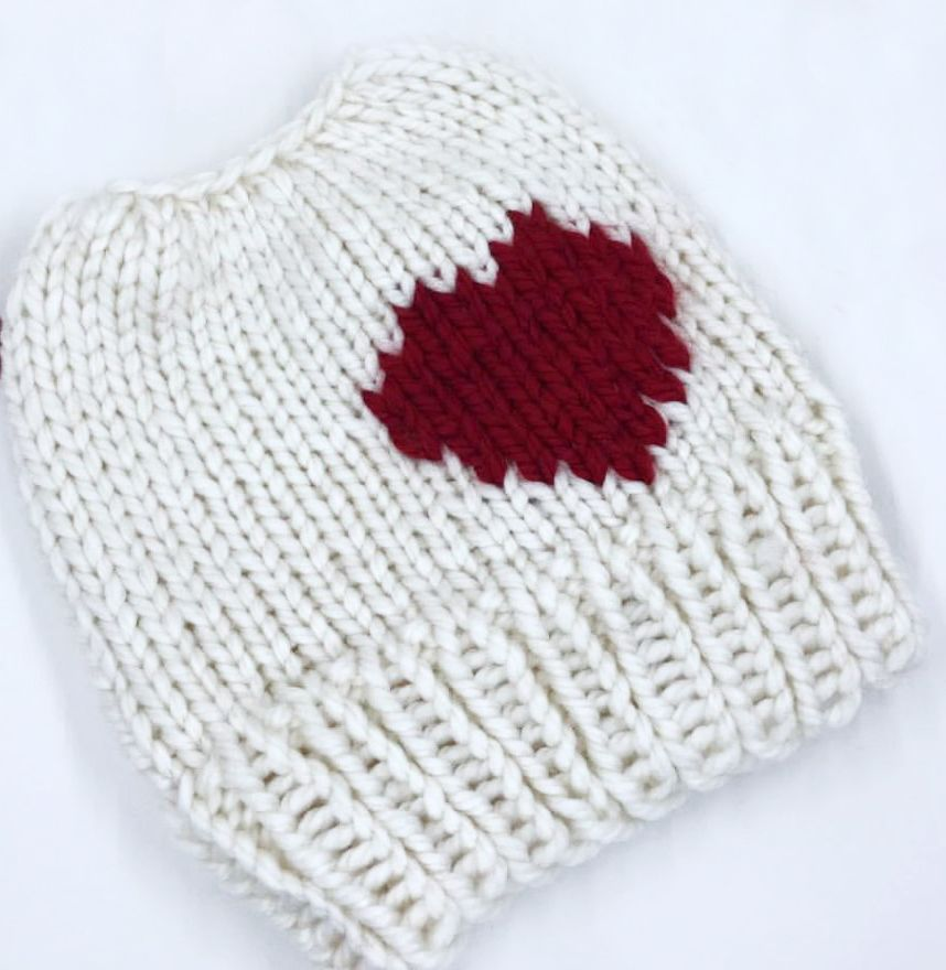 Lovely Bun Beanie - http://www.knittingboard.com/   Loom Knitting ...