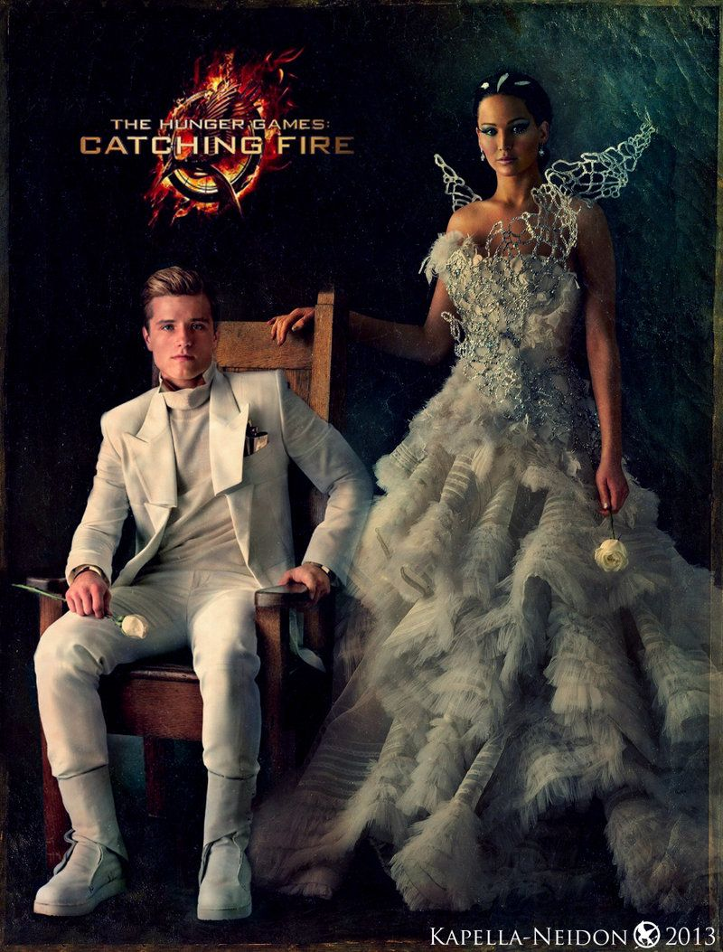 The hunger games catching fire katniss wedding dress designer -  Hunger Games Catching Fire Portraits Katniss Everdeen Jennifer Lawrence This Series Is Amazing Literary Speaking But The Costume Designs For The