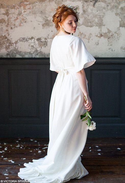 Klimin Romantic Wedding Dress Plus Size Bridal Gowns Winter Alternative