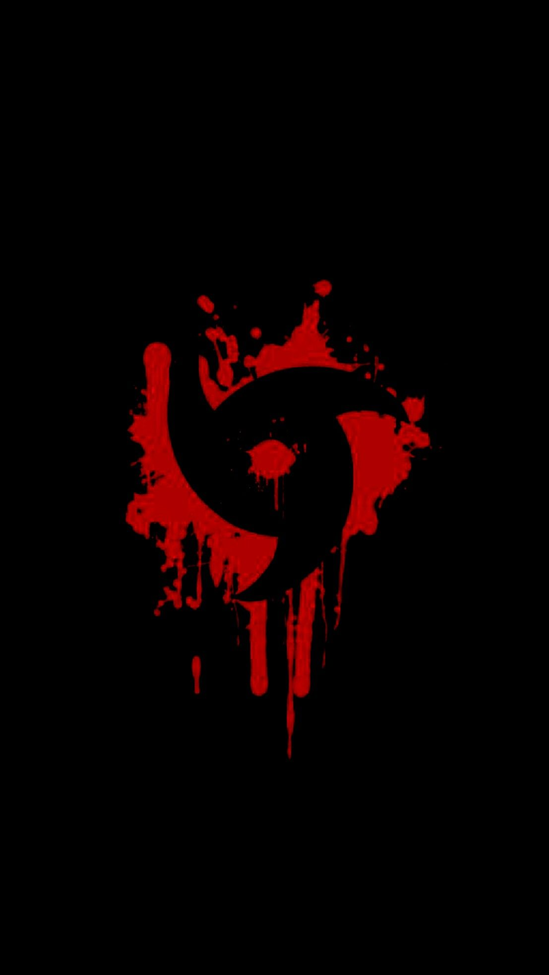 Naruto Anime Black Wallpaper Android Iphone Mangekyou Sharingan Itachi Papel De Parede Anime