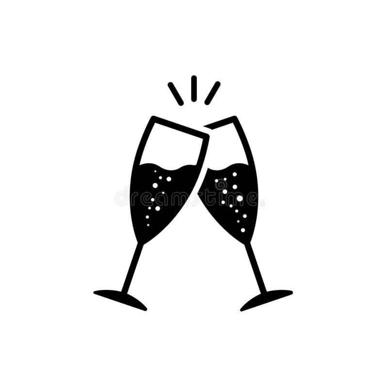 Champagne Glasses Vector Icon Glasses With Wine Illustration Symbol Cheers Sig Sponsored Paid Wine Icon Social Media Design Graphics Champagne Glasses