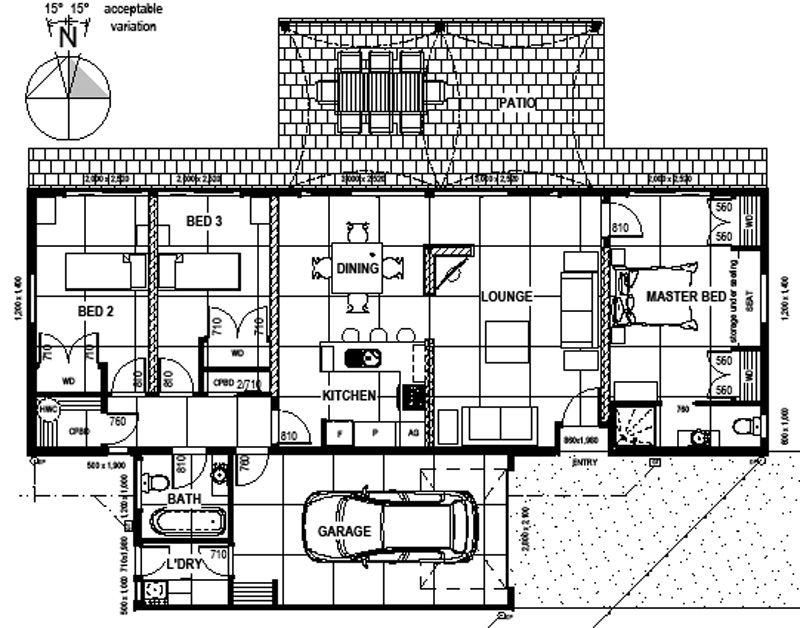 Pakawau 2BR Eco House Plan | Arkimba | Pinterest | Passive house ...