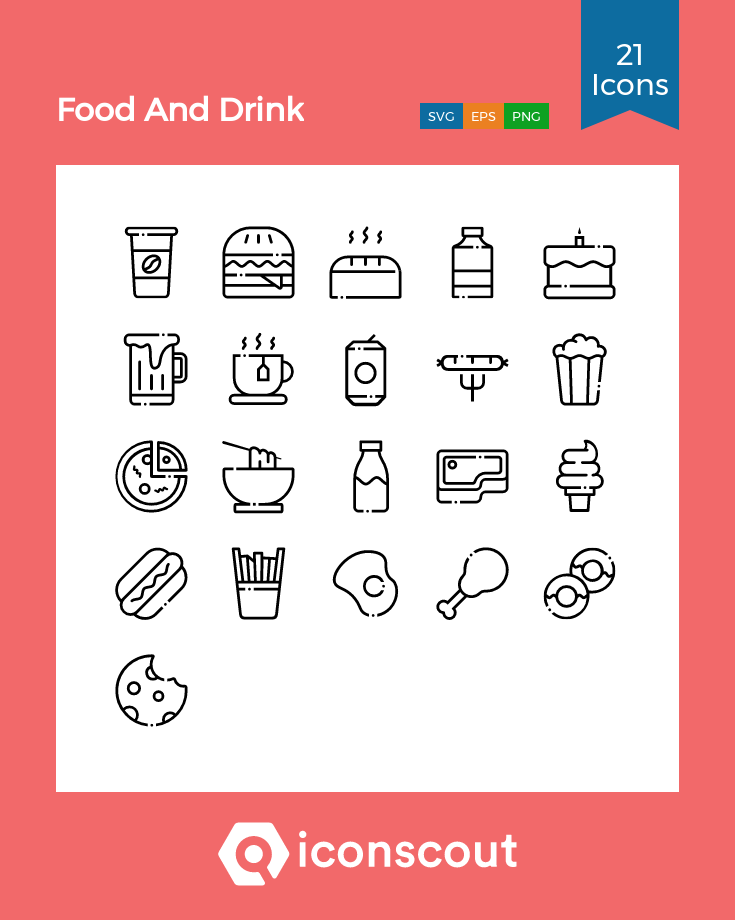 Download Food And Drink Icon Pack Available In Svg Png Eps Ai Icon Fonts Drink Icon Food And Drink Icon Pack