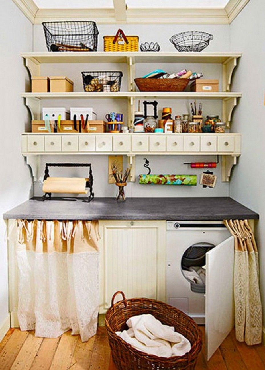 Laundry Room Storage Ideas Small Chic Unique Decor