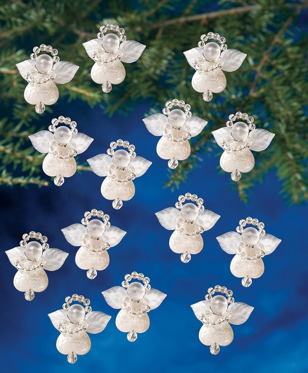 How to Make Beaded Christmas Angel Ornaments ...