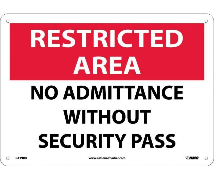 No Need To Spend A Fortune On These: RESTRICTED AREA, NO PARKING, 10X14, .040 Aluminum