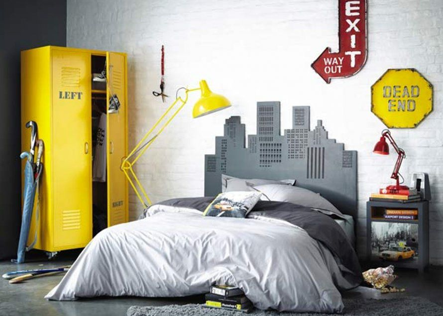 une chambre ado de style industriel chambre f pinterest teen boy rooms room et bedroom. Black Bedroom Furniture Sets. Home Design Ideas