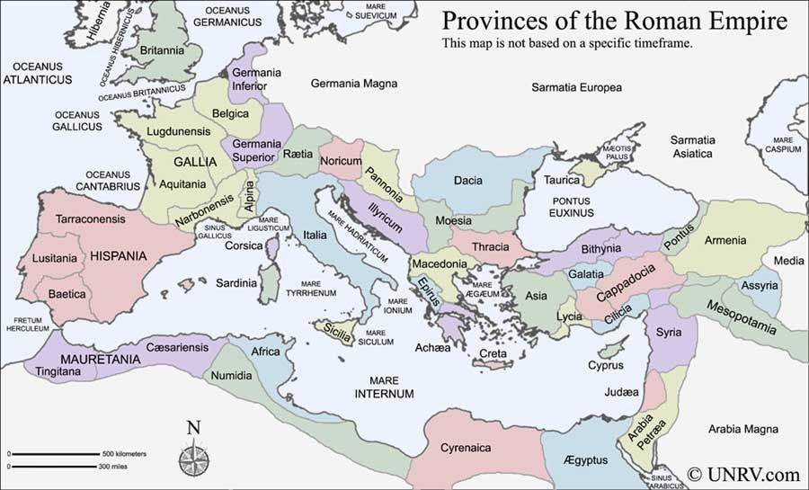 Roman Empire - provinces (no specific timeframe) | historic maps ...