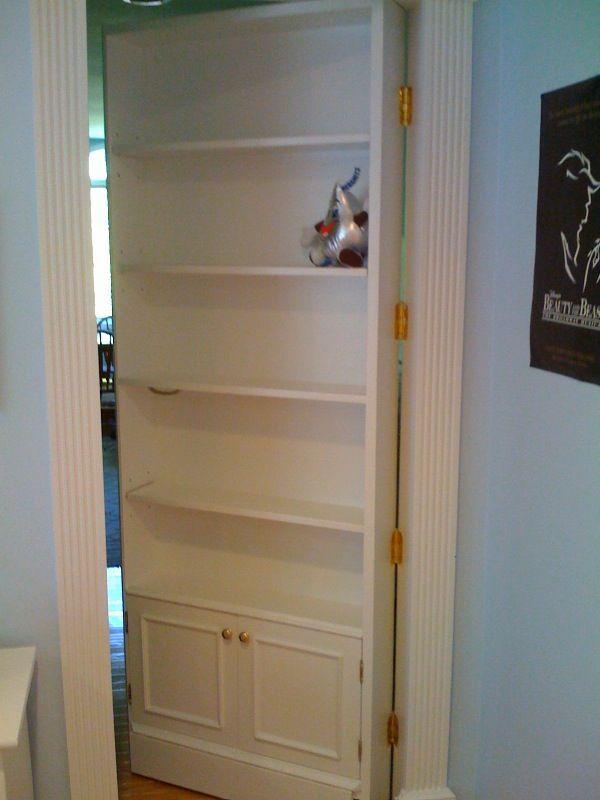 hidden doors to hide the doors to kids rooms off of the