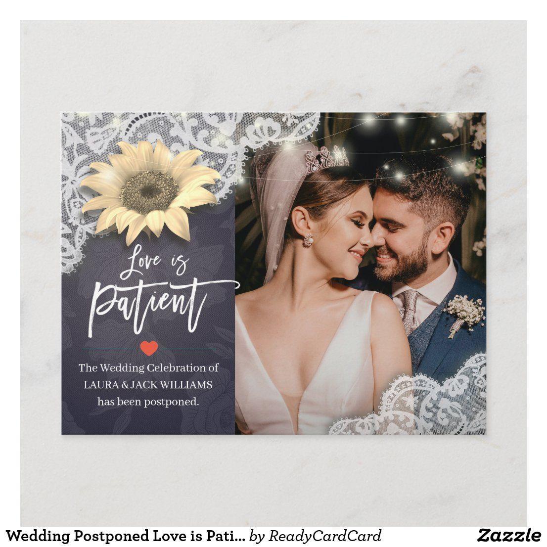 Wedding Postponed Love is Patient Photo Sunflowers