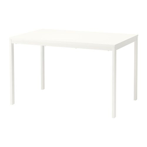 VANGSTA Extendable table, white | Extendable dining table ...