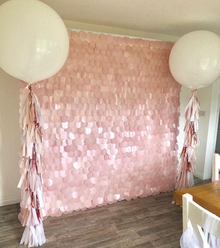 ➸ ➸ ⓟⓡⓔⓣⓣⓨ ⓟⓡⓔⓣⓣⓨ? Erröten rosa Pailletten Wand & Ballon Paket? Alles bereit für heute ... - #alles #ballon #bereit #err ...