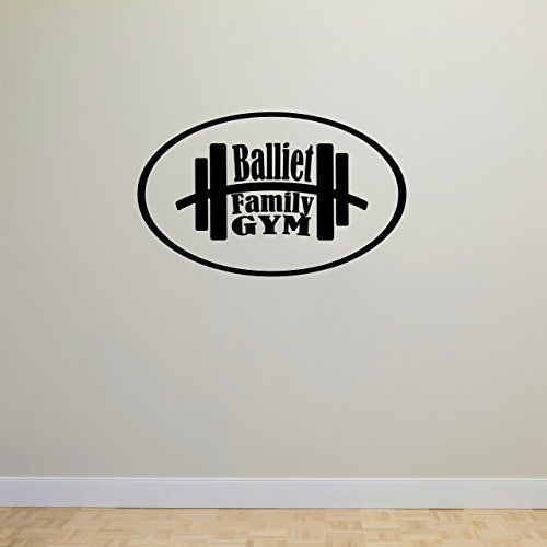 Personalized Name Gym Wall Decal *** More info could be found at the image url. (Amazon affiliate link)