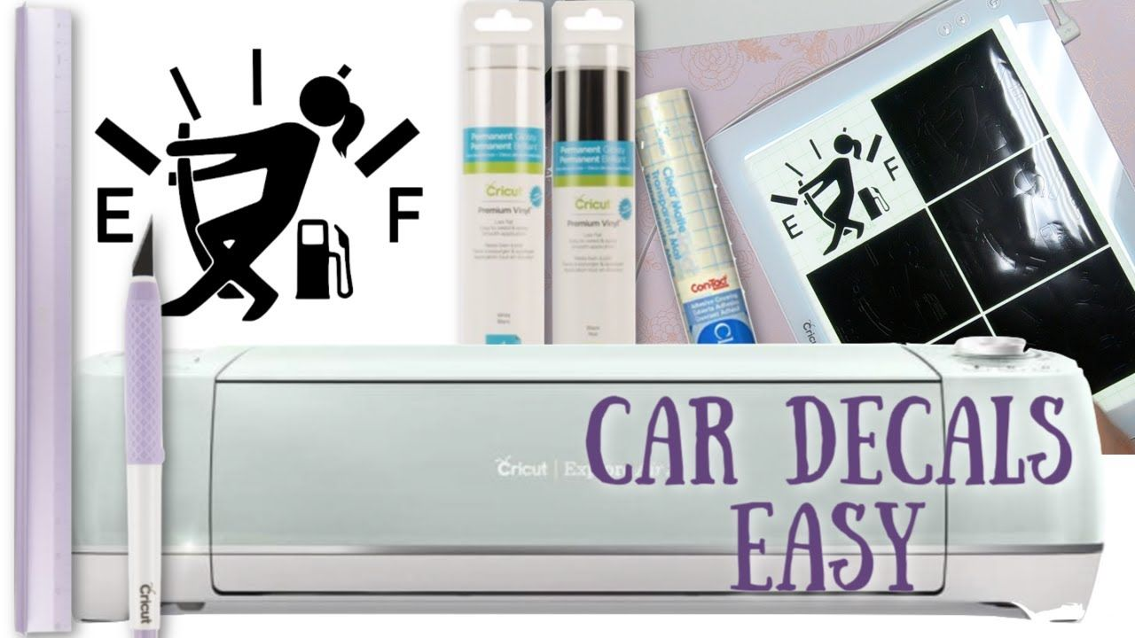 Car decals with cricut explore air 2 weeding box