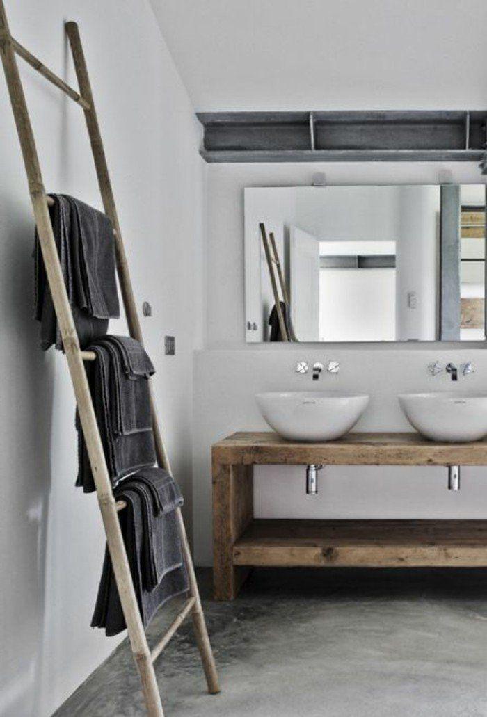 Le porte serviette en 40 photos du0027idées pour votre salle de bain