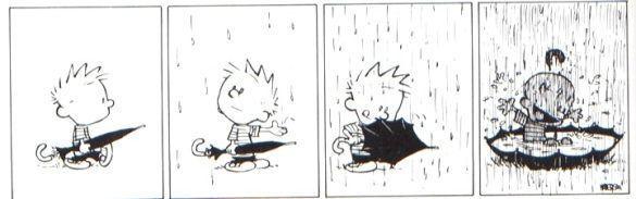 "Calvin et Hobbes - Bill Watterson ""Il pleut"""