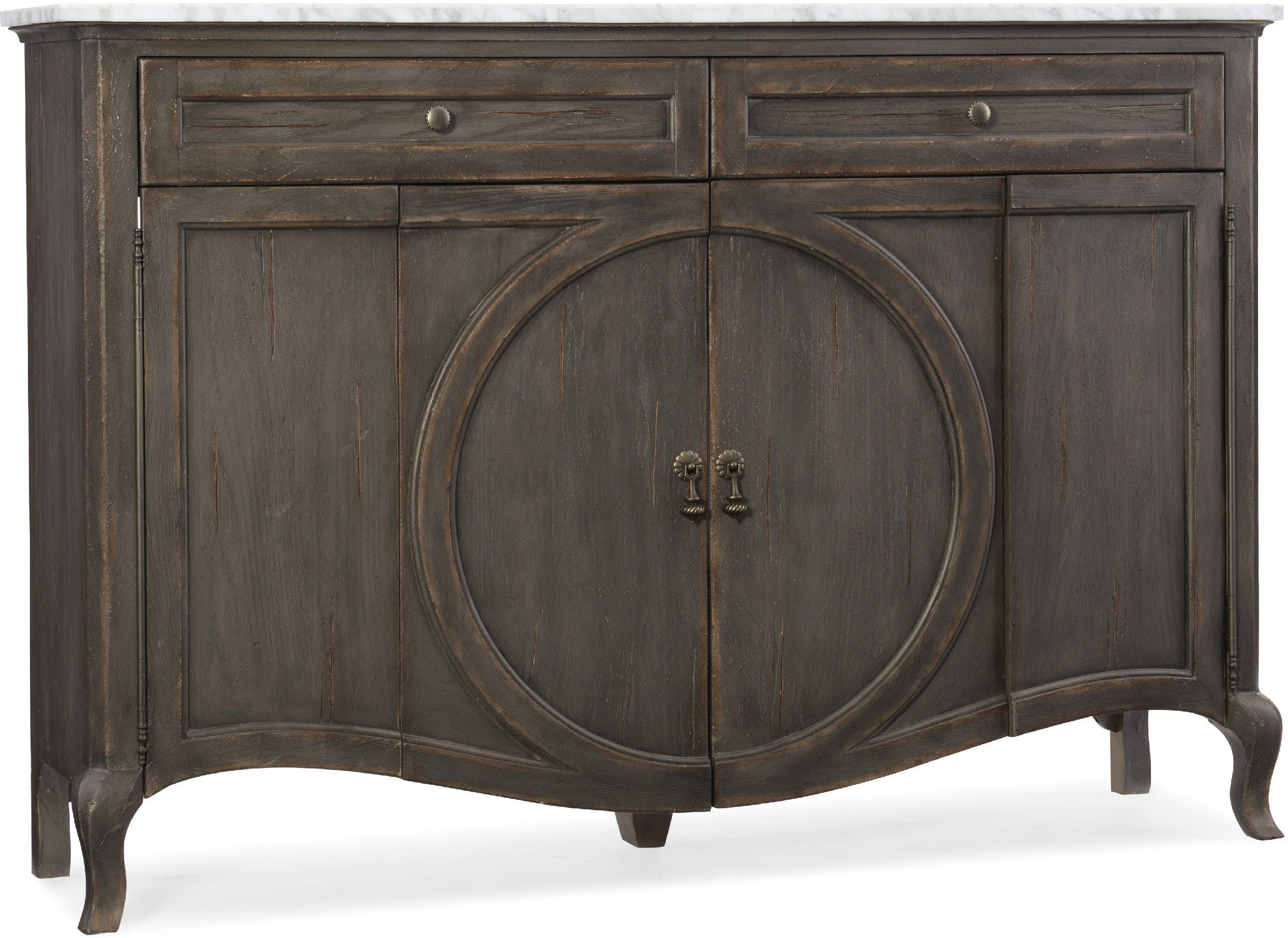 Hooker Furniture Arabella Four Door Two Drawer Credenza 1610 85005 Gry