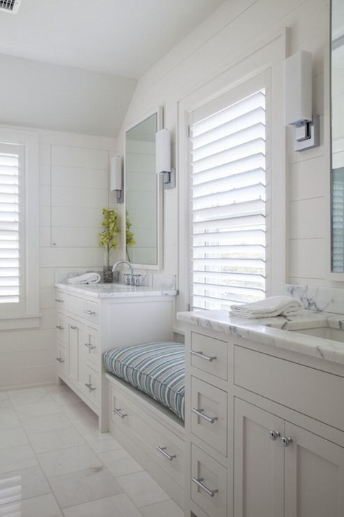 Bathroom With Window Seat Cottage Bathroom Duffy Design Group Bathroom Windows Bathroom Bench Bathroom Styling