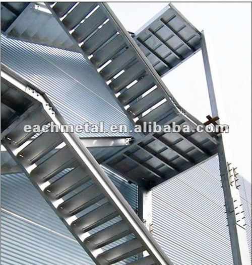 Best Red Structural Steel Stairwell Outdoor Steel Structure 400 x 300