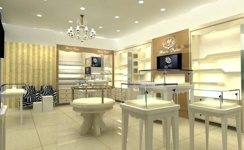 jewellery shop interior design ppt layout