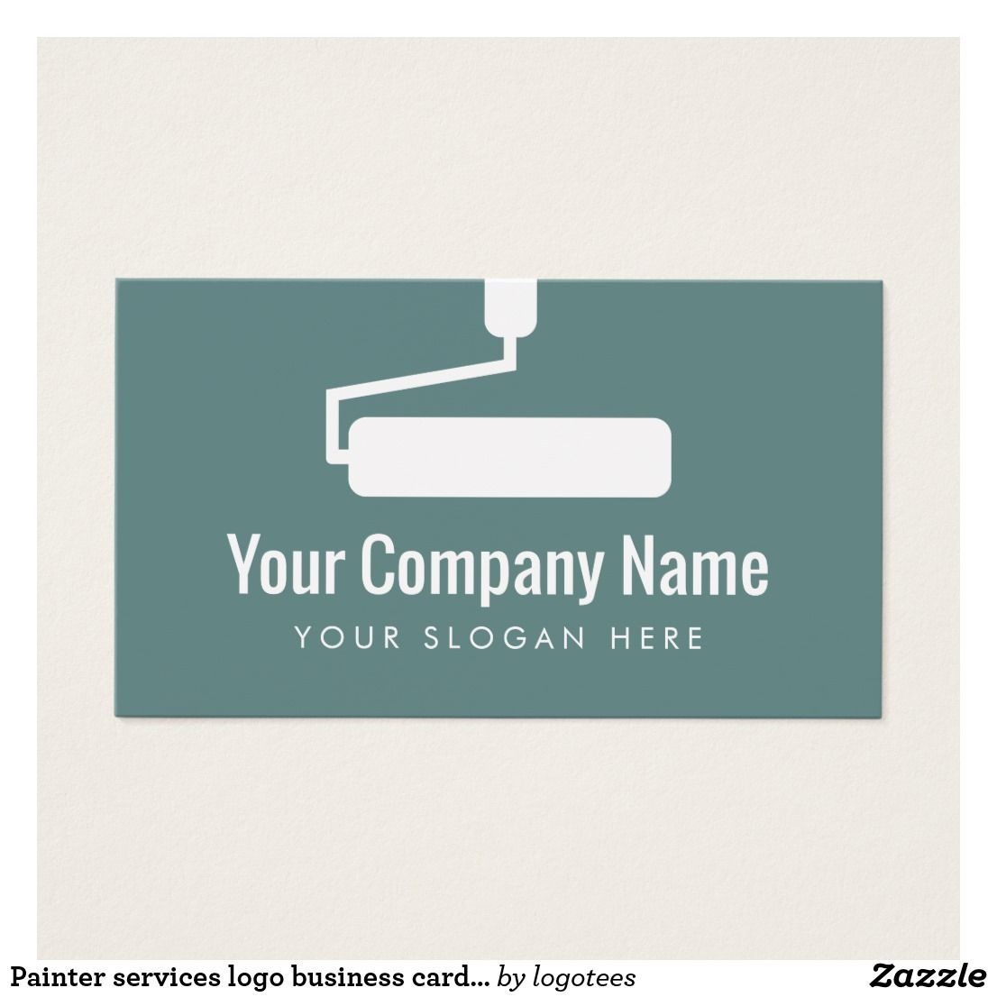 Painter services logo business card template | Visit cards, Card ...