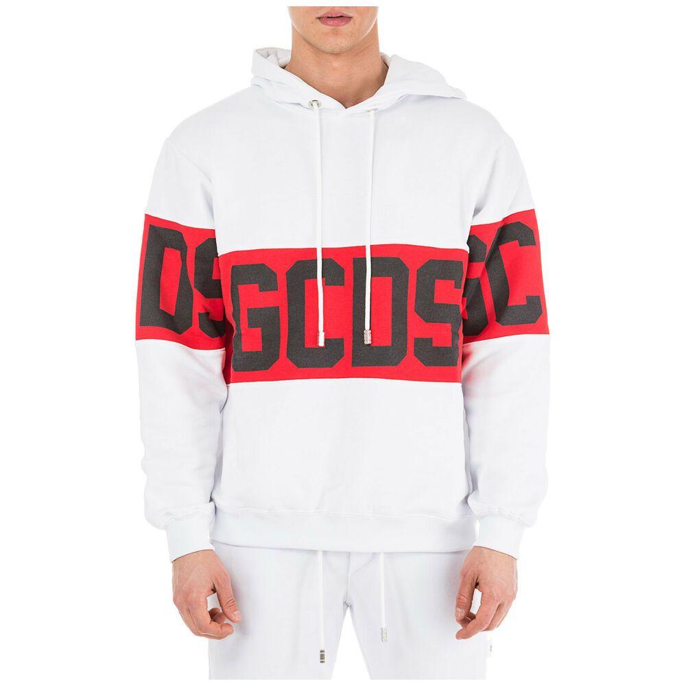Ebay Sponsored Gcds Felpa Con Cappuccio White F22 Hooded Sweatshirts Hoodies Sweatshirts