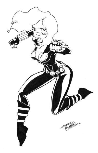 Black Widow cs by KidNotorious on DeviantArt | LineArt: Black Widow ...