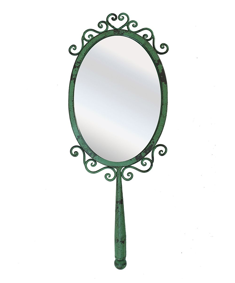 Green Whimsical Hand Mirror | Daily deals for moms, babies and kids