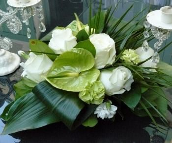 centre table blanc vert mariage pinterest tables. Black Bedroom Furniture Sets. Home Design Ideas