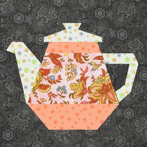 Machine Embroidery Designs Coffee Cup Pieced Quilt Blocks Set