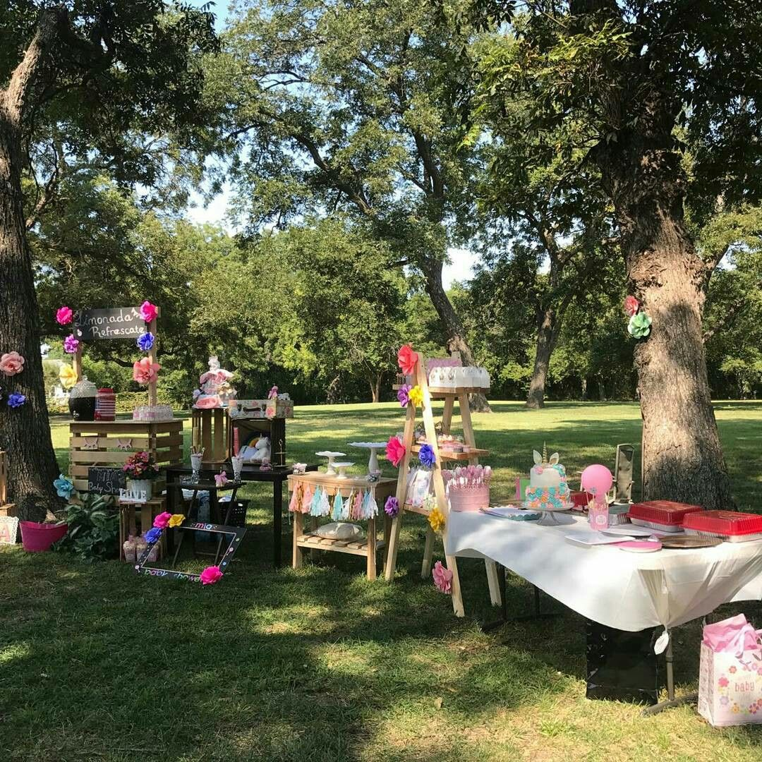 Decoraci n unicornio baby shower al aire libre unicorn for Mia decoracion