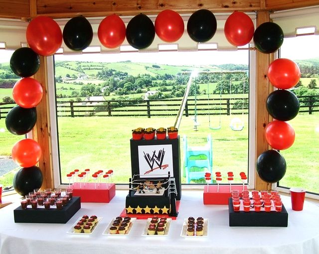 Wrestling Birthday Party Ideas In 2018 Wwe Party Ideas Pinterest
