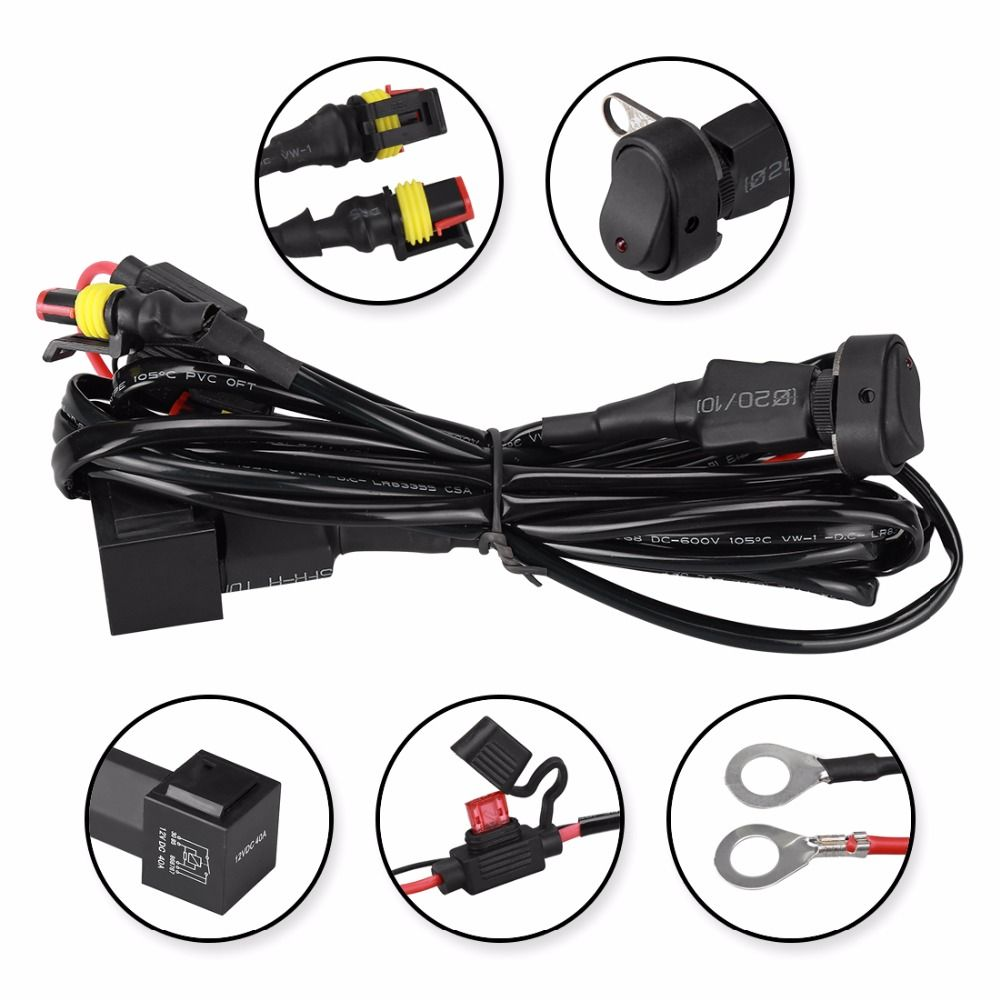 Suparee Switch Motor Motorcycle Universal Motorcycle Led Auxiliary Fog Light Wire With Switch Lamp Headlight S Wire For Bmw Moto Led Fog Lights Bmw Led