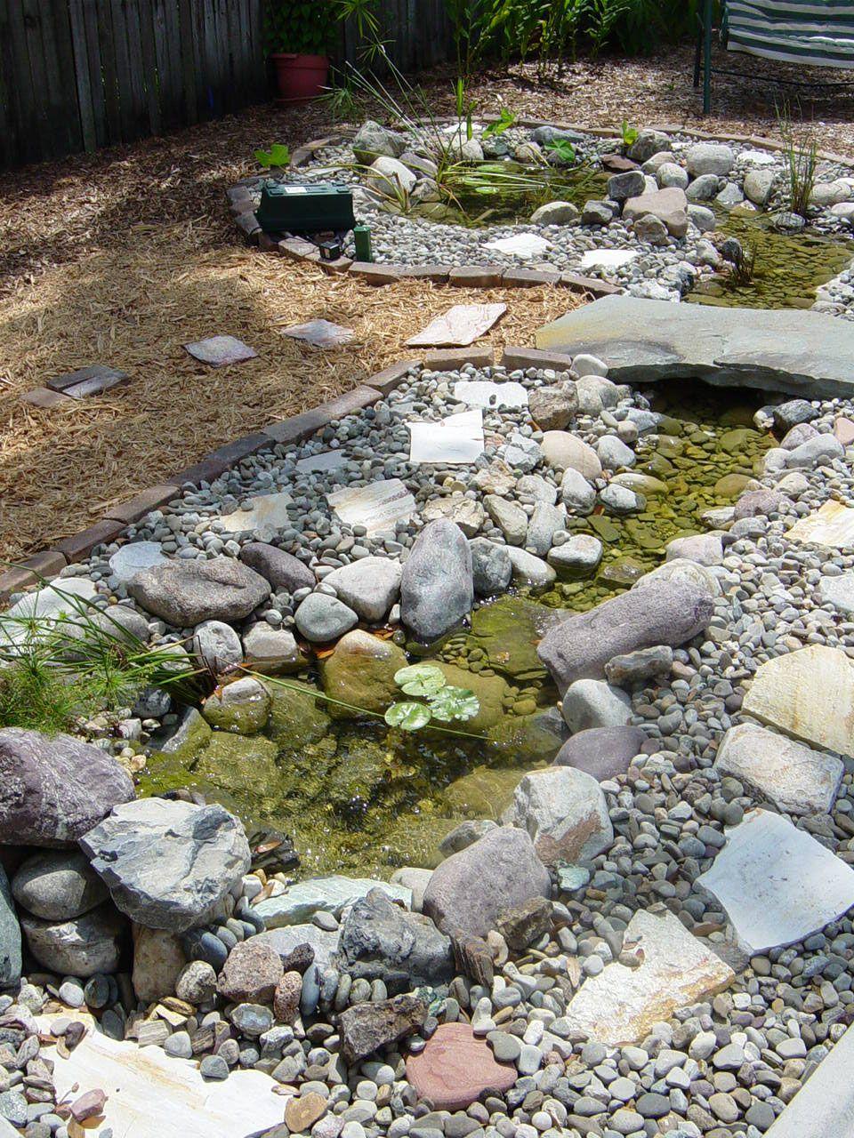 Tiny Pond Stream Bridge Water Features In The Garden 400 x 300