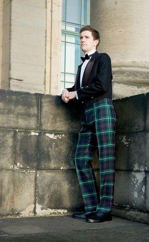 Military Style Fishtail Back Tartan Trews | Mens pants